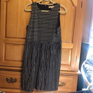 Loft black and white patterned dress